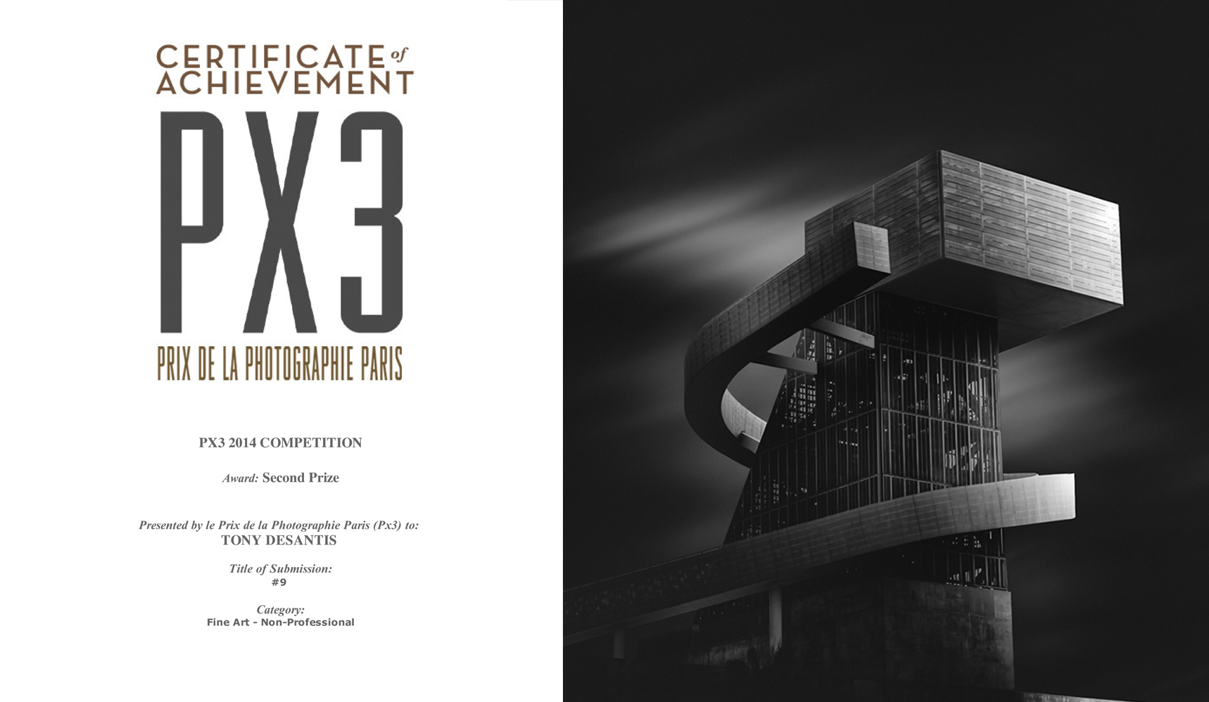 2nd place PX3 Prix de la Photographie, Paris 2014